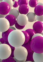 White and pink balls wallpaper