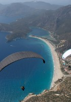 Paragliding over Oludeniz, Turkey