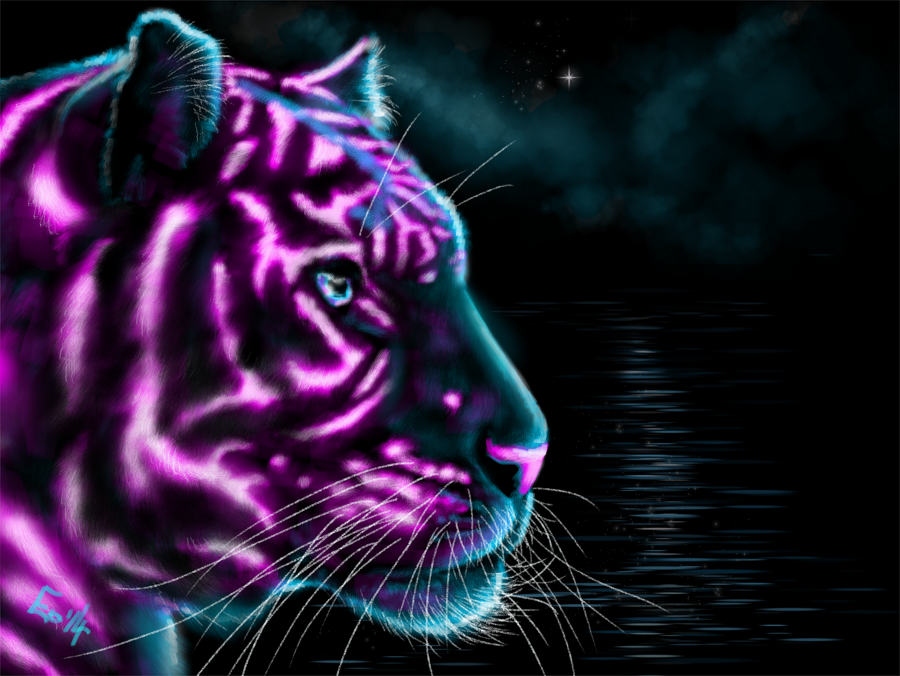 Neon-tiger-9 Cool Colors