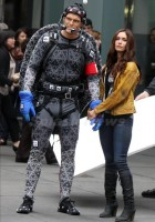 "Megan Fox and Alan Ritchson holds hands at ""Teenage Mutant Ninja Turtles"" set in NYC"