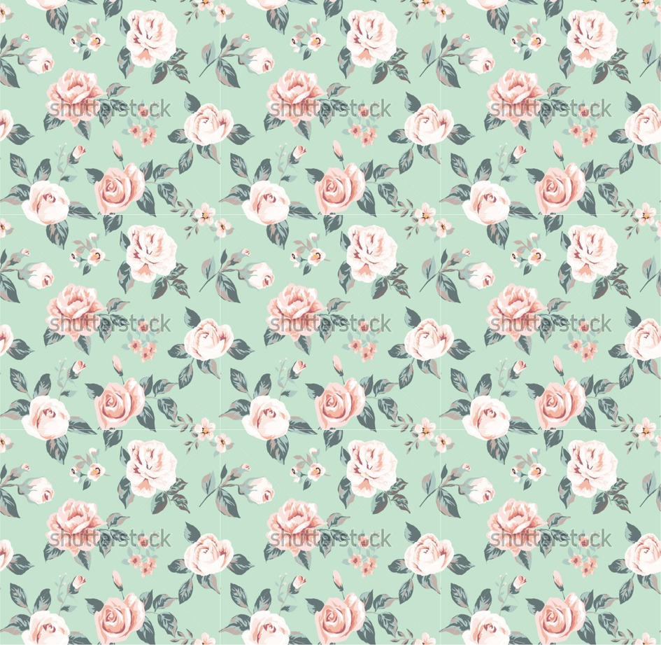 Ee2 Vector Classic Wallpaper Seamless Vintage Flower Pattern On