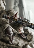 anime-fantasy-sniper-warrior-soldier-weapons-guns-rifle-scope-mountains-