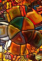 psychedelic stained glass wallpaper
