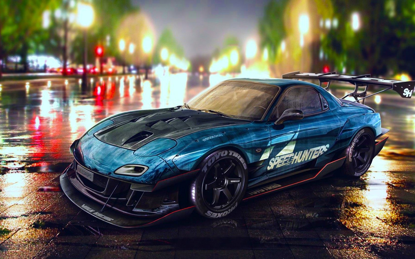 Mazda Rx7 Blue Car Wallpaper Hd Images And Pictures Picamon